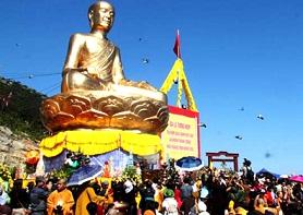 Khánh thành tượng Phật Hoàng - Du lịch Yên Tử